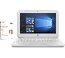 "Hp Stream 11-y053na 11.6"" Laptop - White Free"