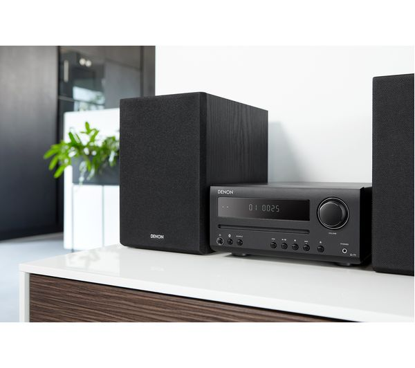 DENON DT-1 Bluetooth Traditional Hi-Fi System - Black Fast Delivery   Currysie