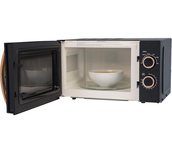 rhm1727rg compact solo microwave black rose gold