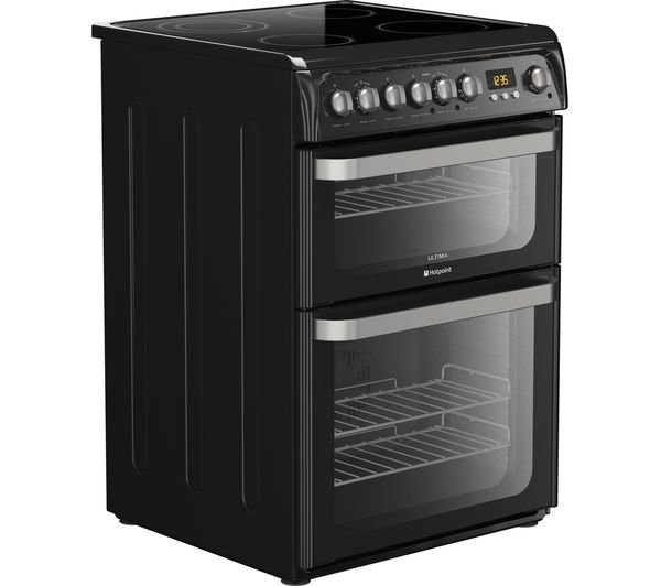 Buy HOTPOINT HUE61K S Electric Ceramic Cooker Black Free Delivery Currys