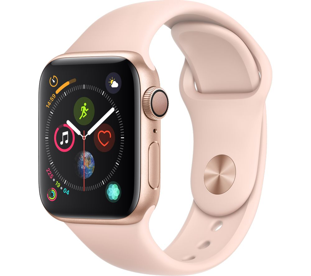 Buy Apple Watch Series 4 Gold Amp Pink Sports Band 40 Mm