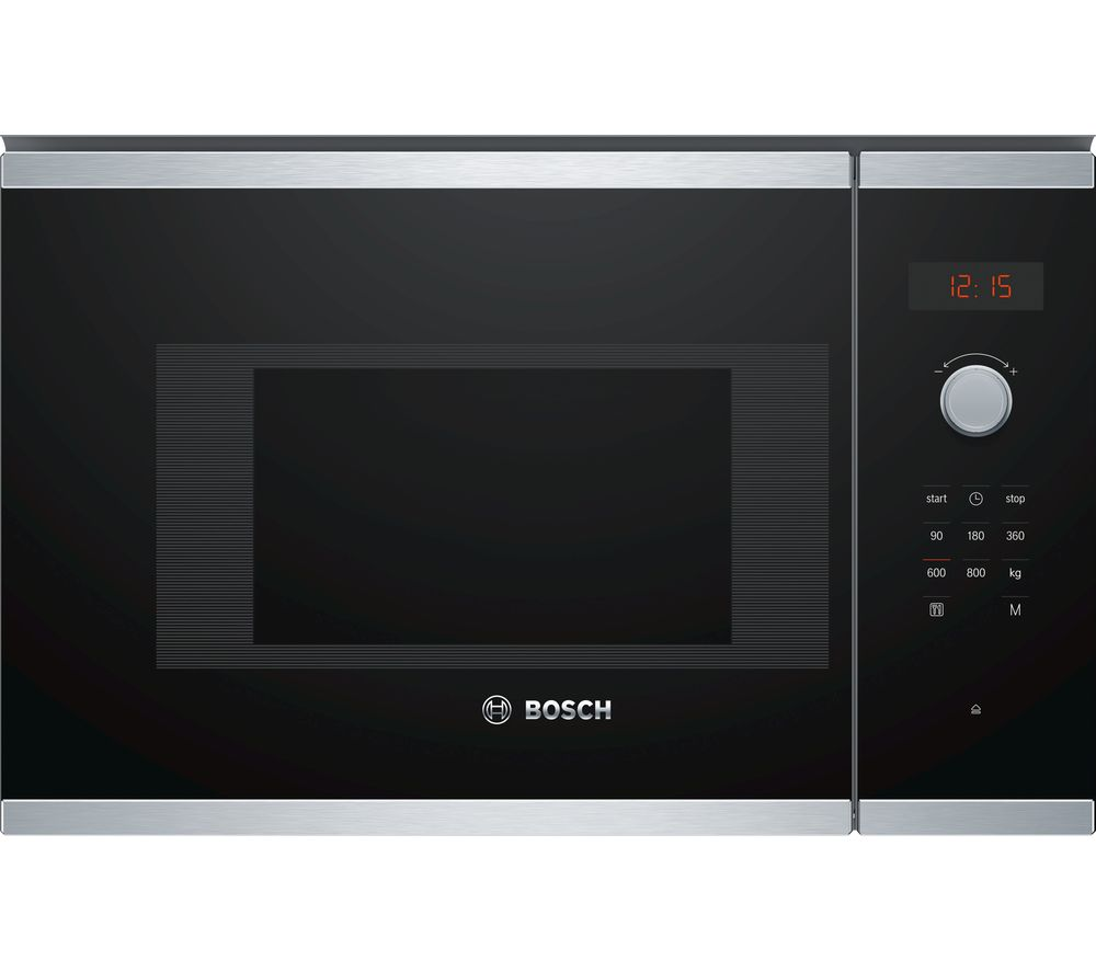 Buy BOSCH Serie 4 BFL523MS0B Built In Solo Microwave Stainless Steel Free Delivery Currys