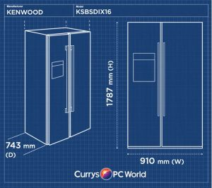 Buy KENWOOD KSBSDIX16 AmericanStyle Fridge Freezer  Silver | Free Delivery | Currys