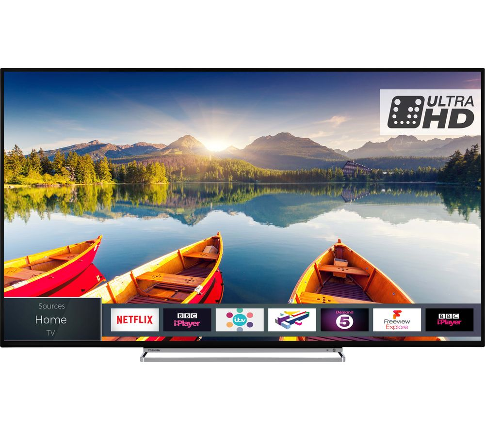 medium resolution of buy toshiba 50u6863db 50 smart 4k ultra hd hdr led tv free delivery currys
