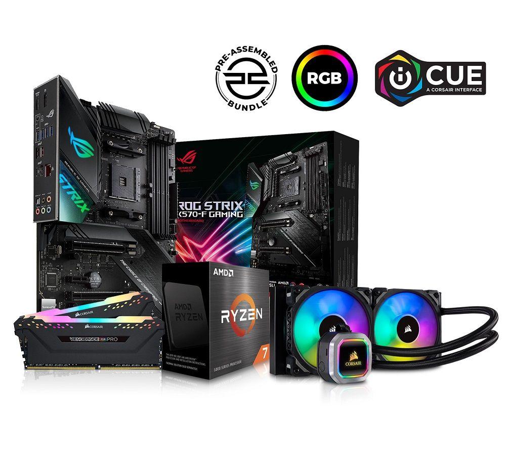 PC SPECIALIST AMD Ryzen 7 Processor. ROG STRIX Motherboard. 16 GB RAM & Corsair RGB Cooler Components Bundle Fast Delivery | Currysie
