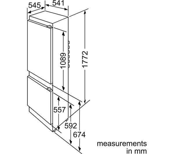 NEFF K8524X7GB Integrated 70/30 Fridge Freezer Fast