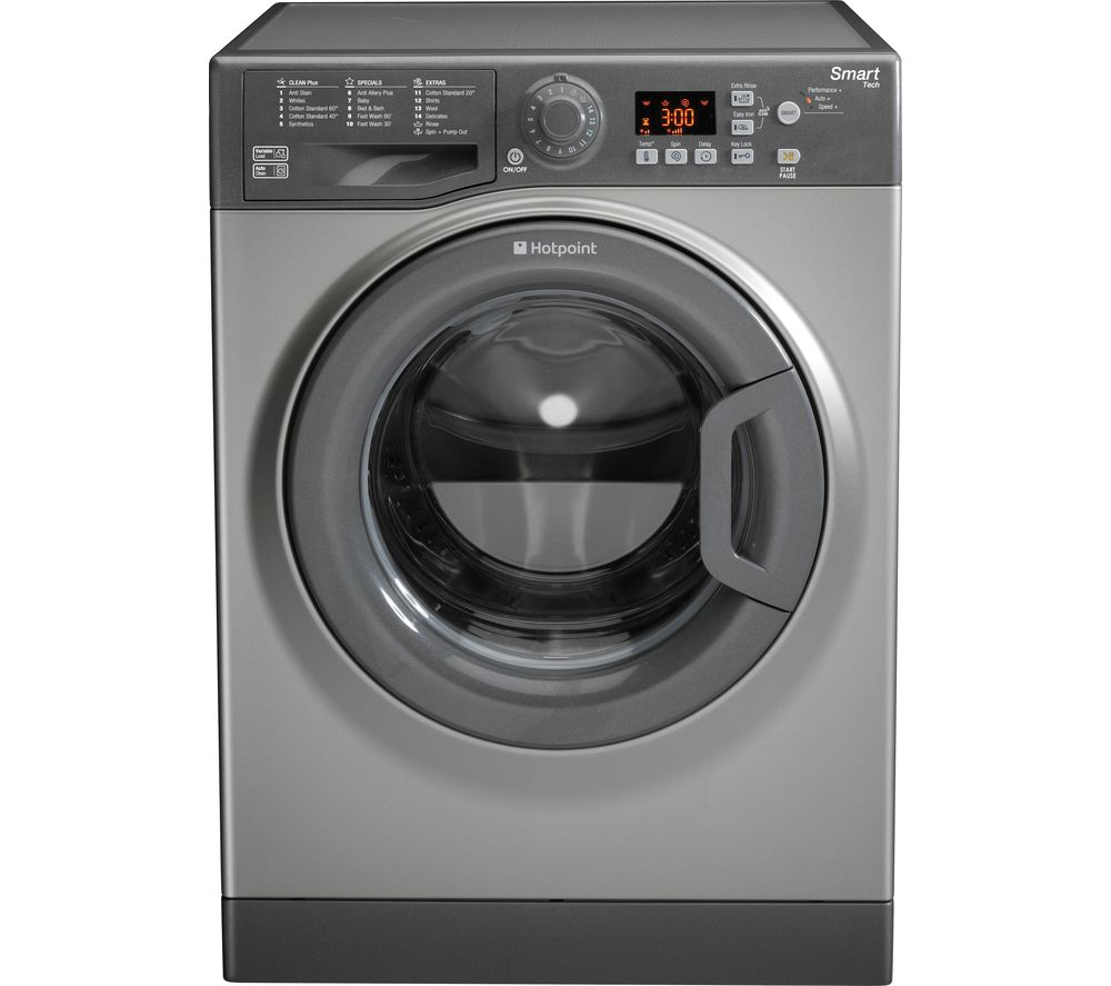 hight resolution of buy hotpoint smart wmfug942guk washing machine graphite free delivery currys