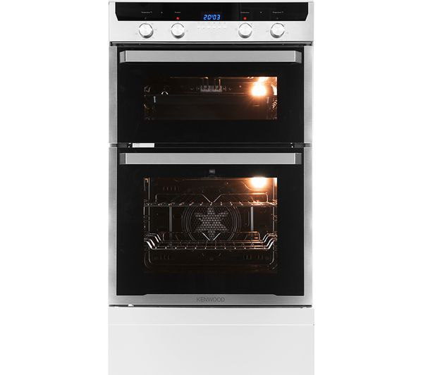 Buy KENWOOD KD1505SS Electric Double Oven Black Amp Stainless Steel Free Delivery Currys