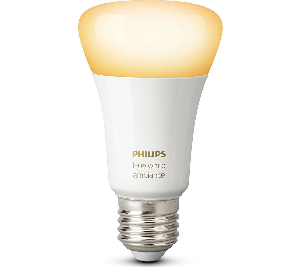 Buy Philips Hue White Ambiance Wireless Bulb  E27  Free