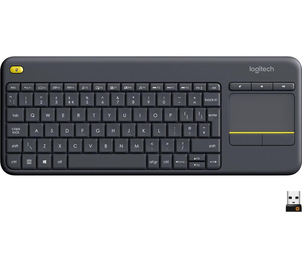 LOGITECH K400 Plus Wireless Keyboard - Dark Grey Deals | PC World
