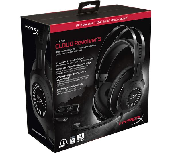 367024 Hyperx Cloud Revolver S Gaming Headset Black Currys Business