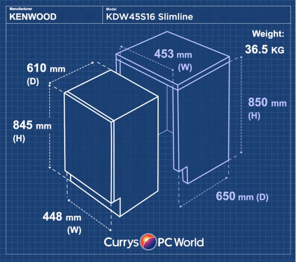 Buy KENWOOD KDW45S16 Slimline Dishwasher  Silver  Free