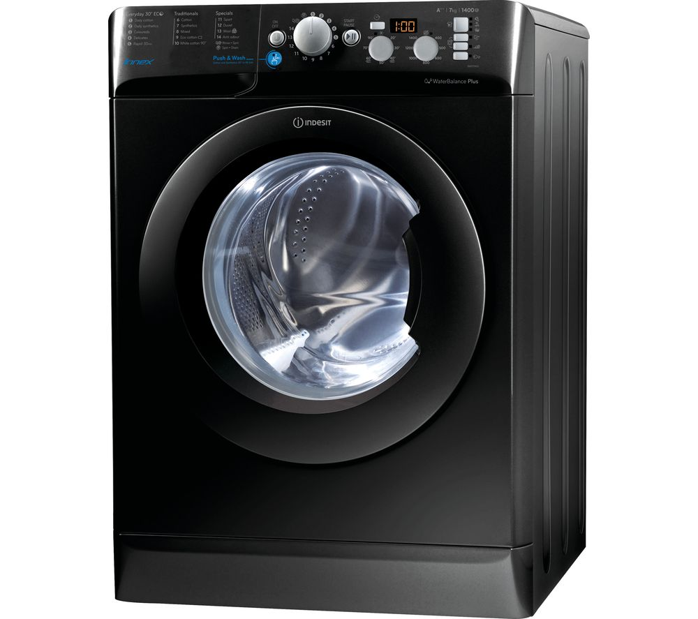 Buy INDESIT BWD 71453 K 7 Kg 1400 Rpm Washing Machine Black Free Delivery Currys