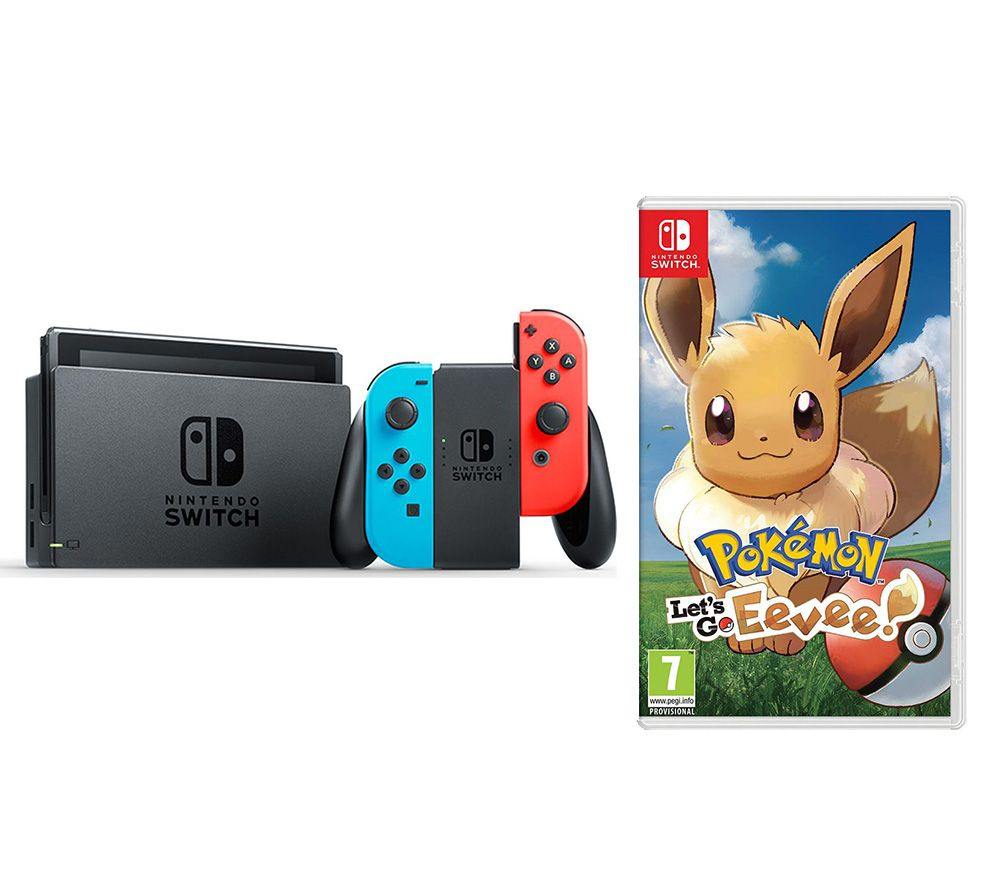 NINTENDO Switch Neon Red & Pokemon: Let's Go, Eevee! Bundle, Neon Reviews at ExpertGadgetReviews
