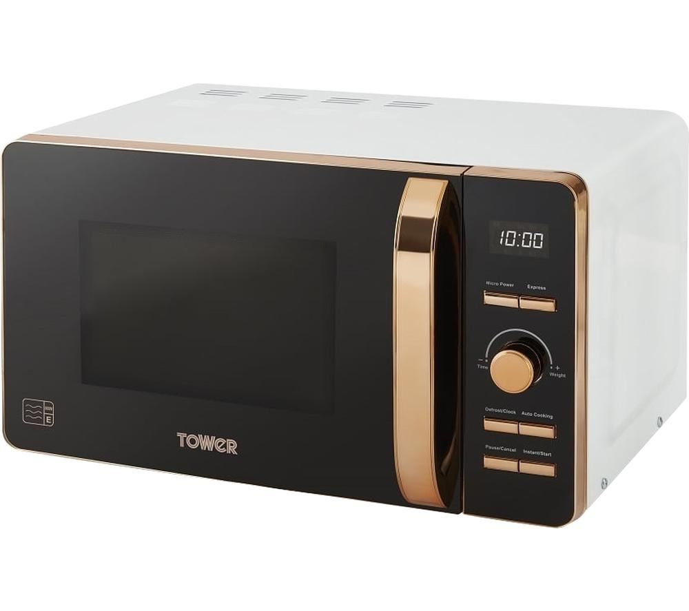 t24021w solo microwave white rose gold