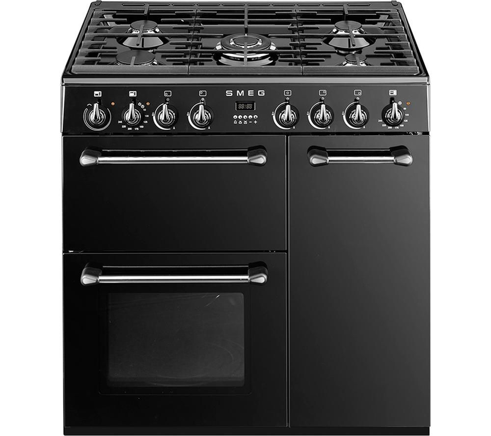 smeg double oven wiring diagram 2002 gas ezgo txt buy bm93bl 90 cm dual fuel range cooker black stainless steel