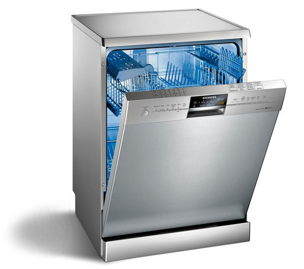 Buy SIEMENS iQ300 SN26M831GB Full-size Dishwasher - Stainless Steel   Free Delivery   Currys