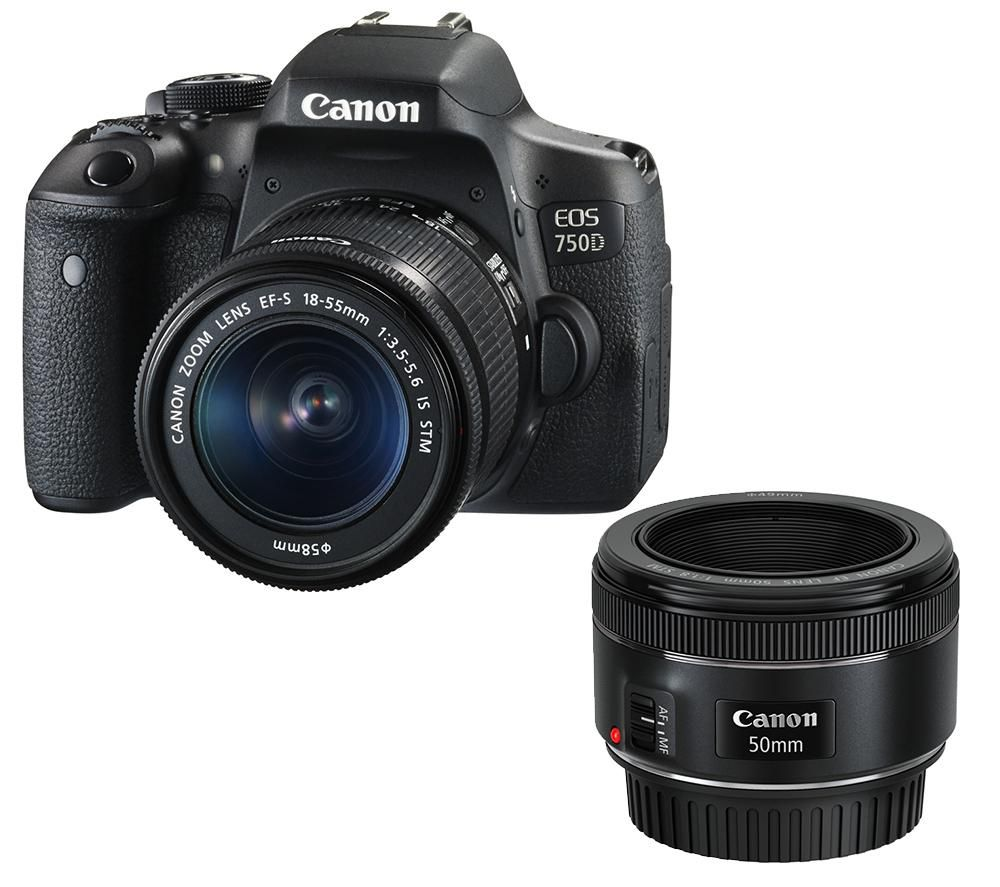 Buy Canon Eos 750d Dslr Camera With 1855 Mm F3556