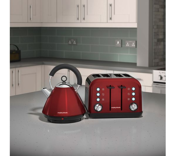 Buy MORPHY RICHARDS Accents 242030 4 Slice Toaster Red Free Delivery Currys