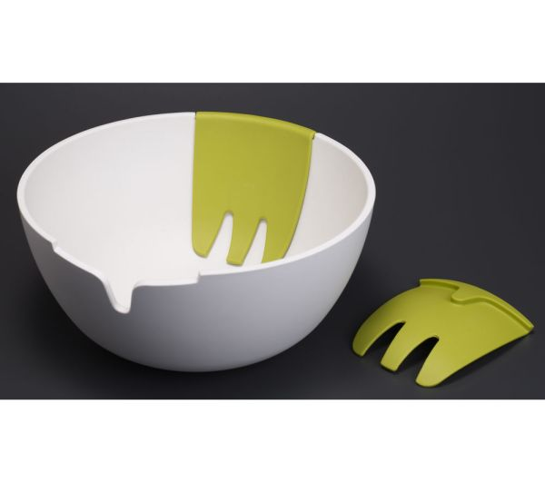 Joseph Hosb011cb Hands- Salad Bowl & Servers - White Free Delivery Currys