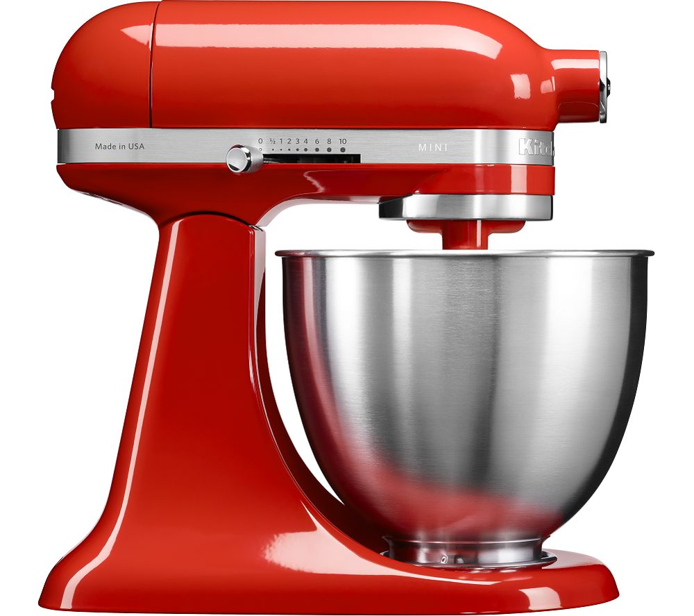 Buy KITCHENAID Artisan Mini 5KSM3311XBHT Stand Mixer  Hot Sauce  Free Delivery  Currys
