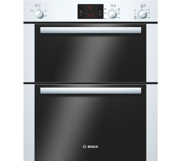 White Built in Double Oven Electric