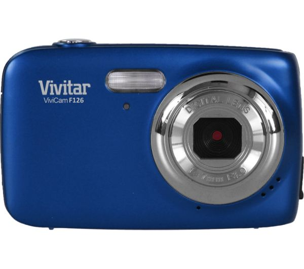 Vivitar Vf126-blu-int Compact Camera - Blue Free Delivery Currys