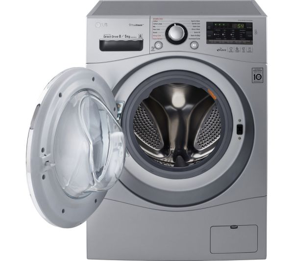Lg Fh4a8tdh4n Washer Dryer - Silver Free Delivery Currys