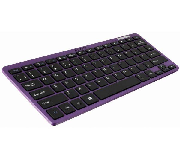 Purple Wireless Computer Keyboard