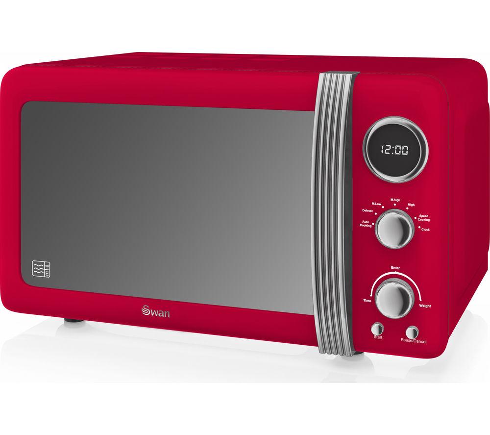 Buy SWAN Retro Digital SM22030RN Solo Microwave Red