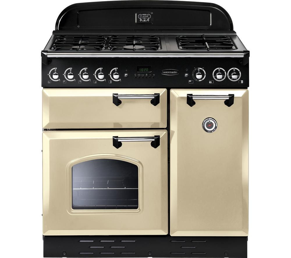 Buy RANGEMASTER Classic 90 Dual Fuel Range Cooker - Cream ...