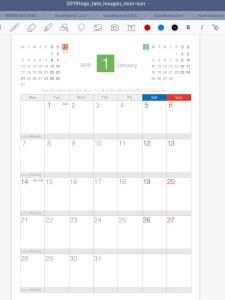 GoodNotes5 カレンダー読み込み完了