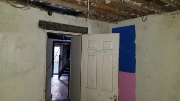 Guest room - Blue and pink section will be knocked down for access to the Lounge