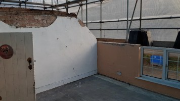 Daughters bedroom - this wall has now gone and will be replaced with a structural timber wall