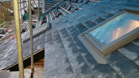 3 new velux windows - the additional one is over the new staircase