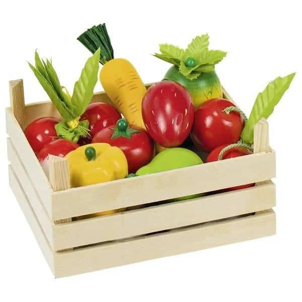 Obst und Gemüse in Kiste