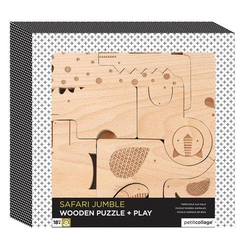 Puzzle und Spielfiguren Tiere 9 Teile