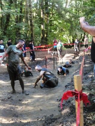 Helping hands to get through the mud and wire