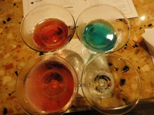 Martini Tasting, in progress