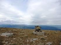 Inukshuk at the top