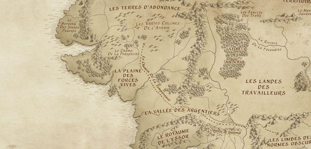 La France en Terre du Milieu  La carte interactive Hobbit