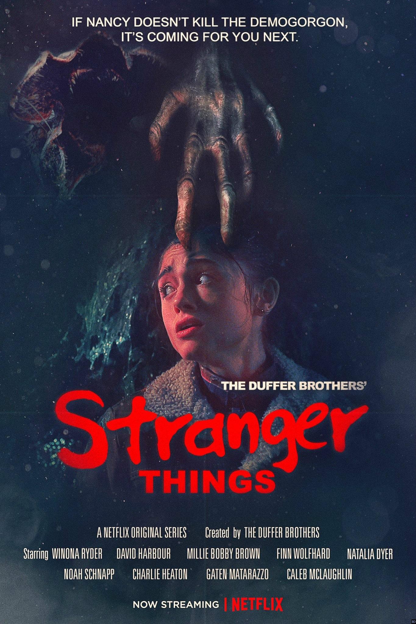"Stranger Things Saison 3 Episode 2 Streaming : stranger, things, saison, episode, streaming, Stranger, Things, Saison, Nouvelle, Affiche, Hommage, ""Griffes, Nuit"""