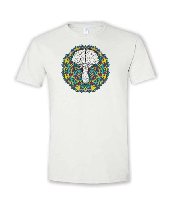 mandela mushroom design tshirt