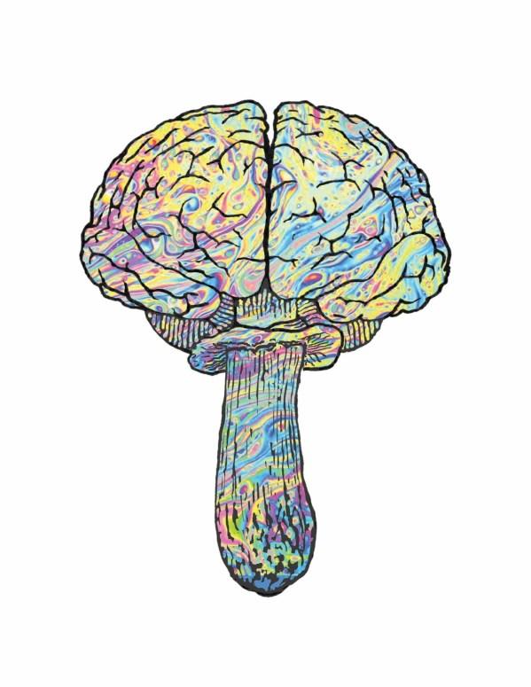 Brainfood Mushroom logo tshirt