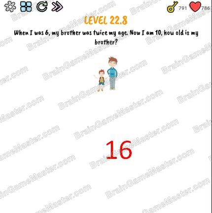 The answer to level 22.0, 22.1, 22.2, 22.3, 22.4, 22.5, 22