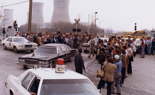 President Carter leaving the Three Mile Island.