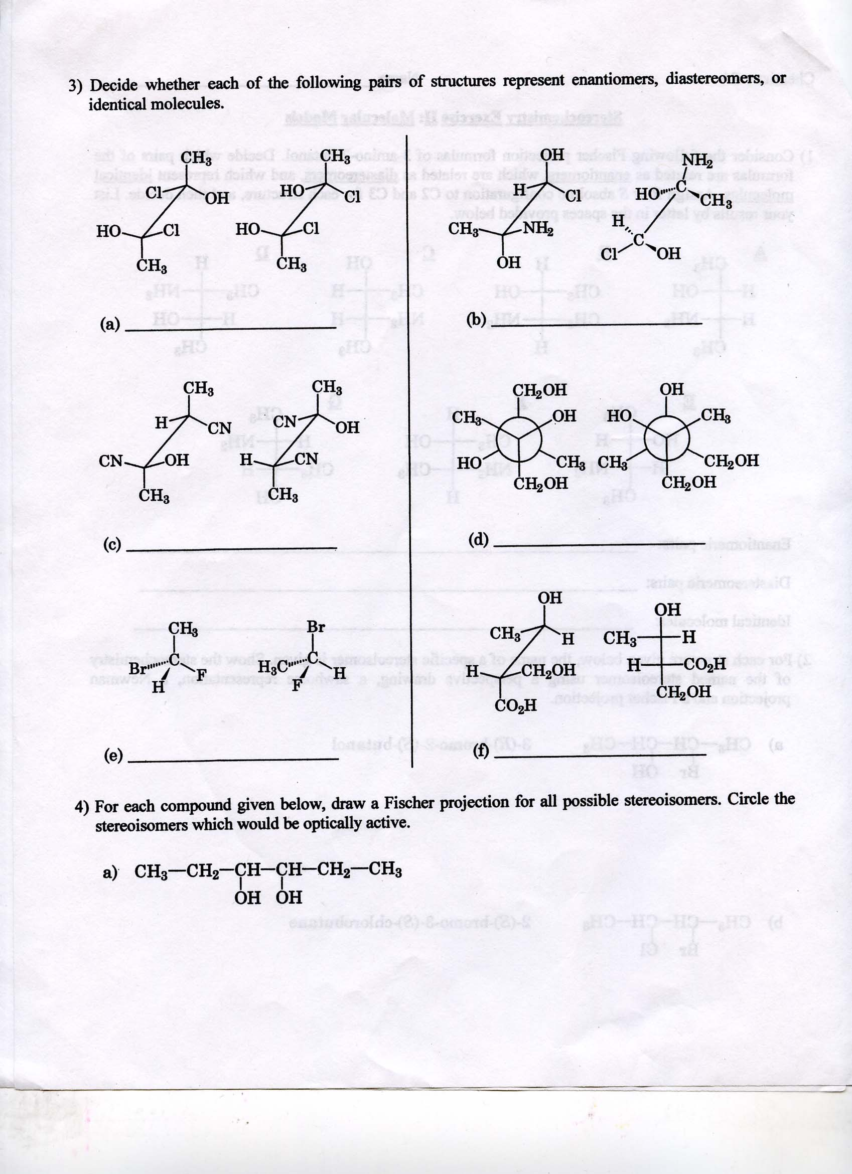Stereochemistry And Compounds