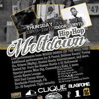 [Event] Human Hustle Entertainment presents The Hip Hop Meltdown Live Thursday Night Series ft MARIO DONES (OF THE SOUL VIBE)