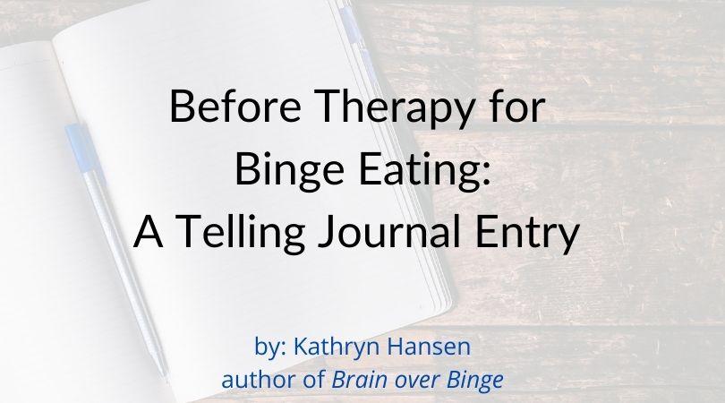binge eating journal