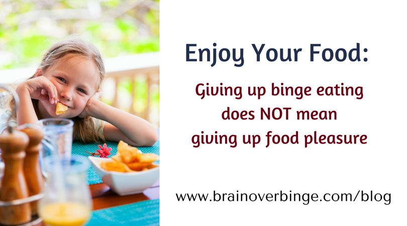Enjoy food binge eating